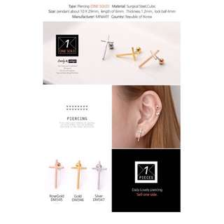 Surgical steel earring bar bell helix conch