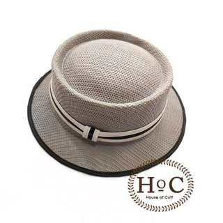 Houseofcuff Topi Fedora Hat  GREY PORK PIE HAT