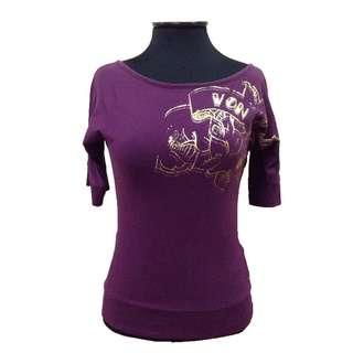 New:Von Dutch purple top