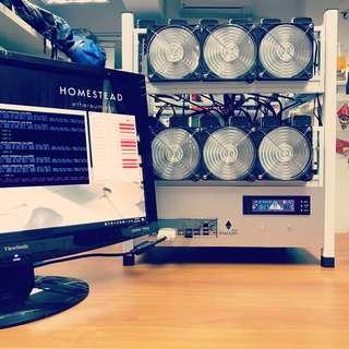 魄杰 blackjet12 Classic | Ethereum / Zcash RX570 RX580 12卡礦機