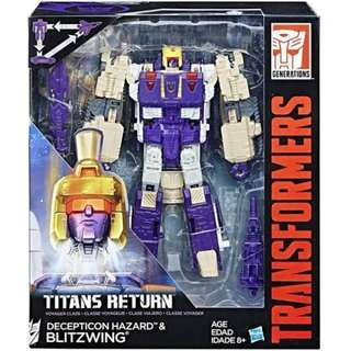 [SALE] [CASH ONLY] Hasbro - Generations Titans Return - Voyager Wave 5 - Blitzwing - Transformable Action Figure
