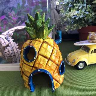 Spongebob pineapple house fish tank decoration