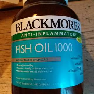 Blackmores fish oil 1000 400 capsules expiry date 01/10/20