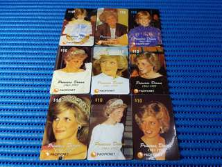 Pacificnet Princess Diana 1961-1997 Limited Edition of 2000 Commemorative Card Set ( Lot of 9 Pieces )