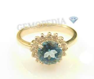 Silver Ring 925 rhodium platin covered with natural stones Blue Topaz and Garnet
