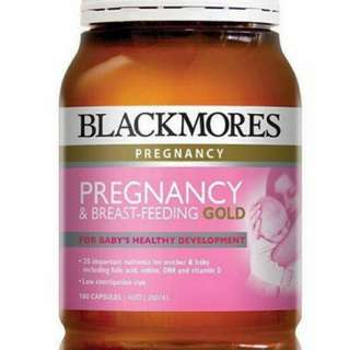 Blackmores pregnancy and breastfeeding gold 180 capsules expiry date08/08/19