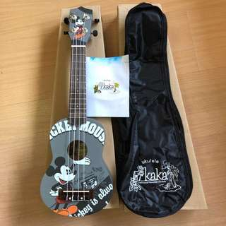 "21"" wood soprano KAKA ukulele with free carrier bag - Micky mouse"