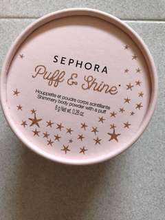 Sephora glitter puff for dinner