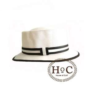 Houseofcuff Topi WHITE PORK PIE HAT