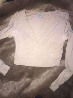 Kookaï nude long sleeved top