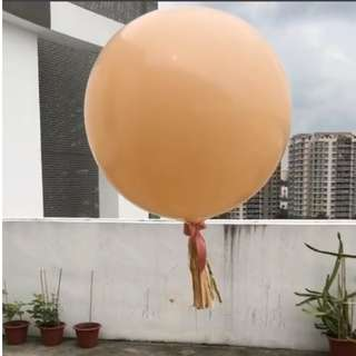 Helium Balloon - 36 Inch Blush Plain Balloon