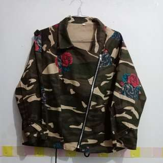 Jacket army flowers