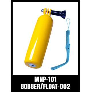 GP BOBBER B MNP-101 FLOAT ON GOPRO YELLOW