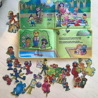 Sesame Street felt book for pretend play