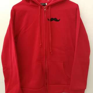 Women Hoodie Jacket with cute mustache