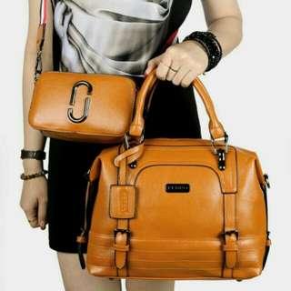 Pedro Leather Handbag Original (Khaki)