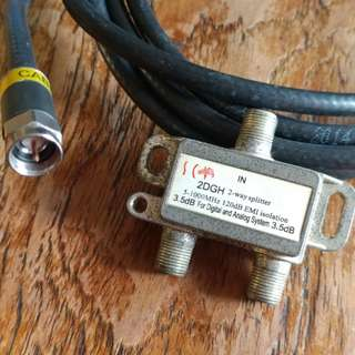 Starhub Cable & Splitter