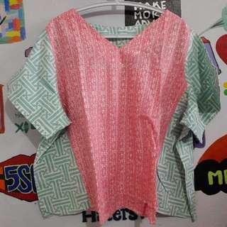 Baju Batik 2 Warna Bigsize