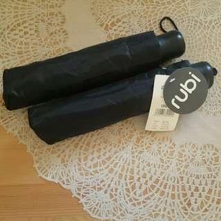 Rubi umberlla black color 全黑雨傘/ 遮