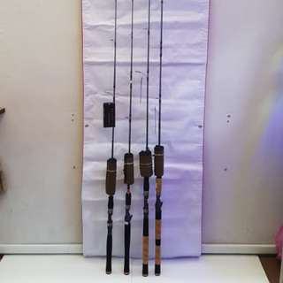 (New and Just In Place.!)- (E)Team Seahawk- BROWN SCORPION II, MULTIFLEX SYSTEM Spinning Fishing Rod. =1). BNS II 602 MHS(Sp 6ft 2sec Rod, Action: MH, Line Wt: 8-18lb)  2). BNS II 662 MHS(SP 6ft 6in 2sec. Rod, Action: MH Line Wt: 8-18lb)