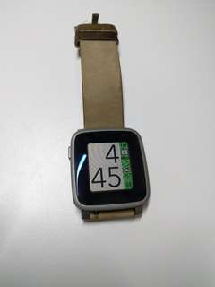 Pebble Time Steel (leather)