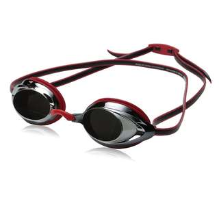 Speedo Vanquisher 2.0 Mirrored Swim Goggle, Red, One Size