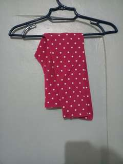 Old Navy Pink polka leggings