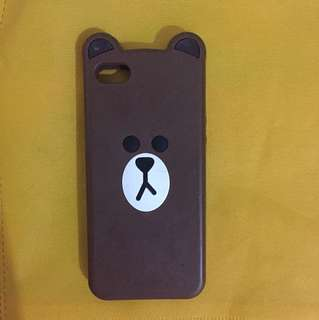 Brown case iphone 5