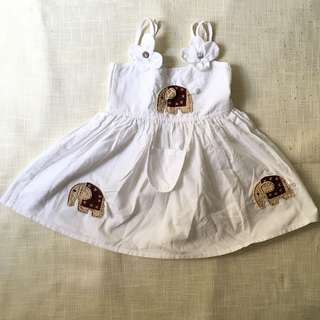 Charity Sale! Elephant Safari Dress Great Quality Size Small for Baby 2T