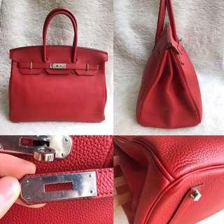 Super Good Deal⚡️Hermes Birkin 35 Geranium PHW Togo leather