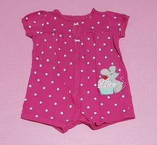 Jumper celana pendek pink baby 12 months