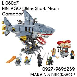 For Sale White Shark Mech Garmadon Building Blocks Toy