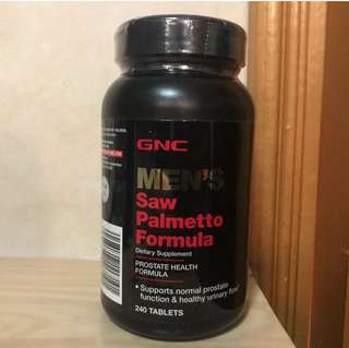 GNC MEN'S SAW PALMETTO FORMULA (240粒) GNC男士鋸櫚配方 (4個月量)
