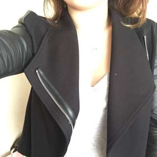 Witchery Blazer Leather Jacket Size 8