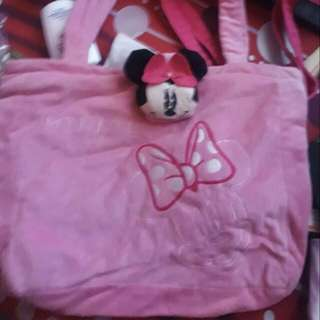 Pink mickey mouse shoulder bag