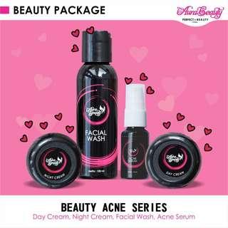 Aura Beauty Paket Krim Acne Series Obat Jerawat Menghilangkan Jerawat dan Flek Hitam Bekas Jerawat TIDAK KETERGANTUNGAN