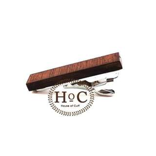 Houseofcuff Pin Tie Jepit Dasi Slim  WOOD DARK PIN TIE SLIM