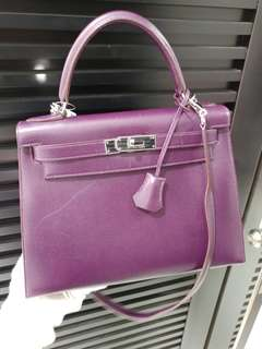 Hermes kelly 28 raisin epsom
