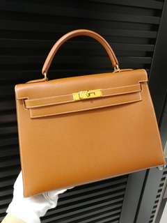 Hermes kelly 32 epsom gold