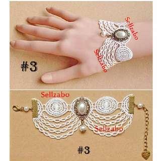 #3 Lace Bracelet White Colour Sellzabo Hands Wrists Accessories Rom Wedding Ladies Girls Women Female Lady