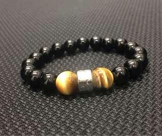 Onyx with agate bracelet