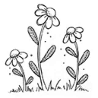 Purple Onion Blooms 2 Unmounted Rubber Stamp