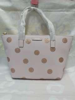 全新美版 KATE SPDAE HANI 粉紅色波點手袋連原裝紙袋 1 件