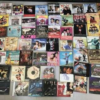 電影VCD ,DVD 如圖124套