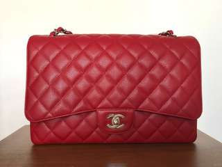 Chanel Classic Maxi Flap Bag (limited edition red)