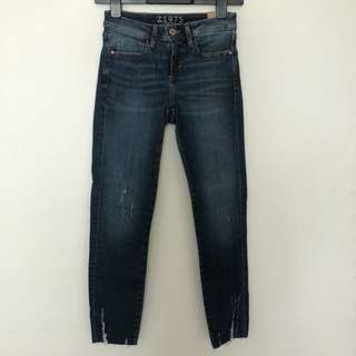Zara Woman Distressed Jeans