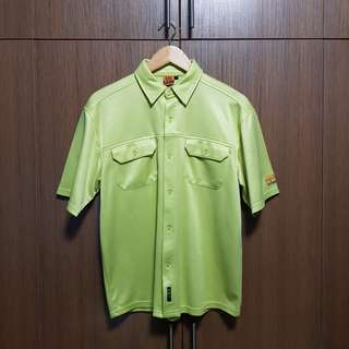 Men's Neon Sporty Button Up Shirt