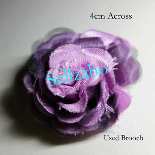 Used Brooch Flowers Sellzabo Accessories Chest Pins Purple Green Colour Ladies Girls Women Female Lady