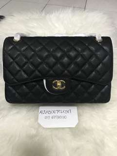 Customer's purchased. Chanel Jumbo Flap Caviar GHW