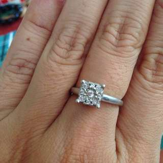 Diamond Engagement Ring. Authentic diamond, white gold frame and with original box.